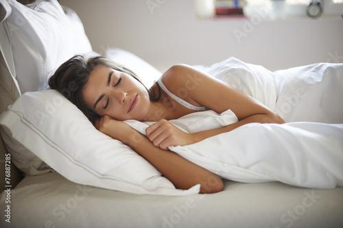 Leinwanddruck Bild My bed is my the best friend