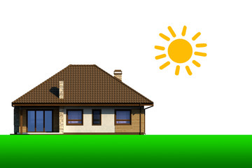 Graphic design of the house.