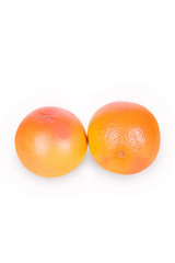 Two ripe grapefruit