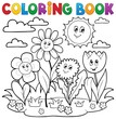 Detaily fotografie Coloring book with flower theme 7