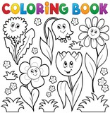 Coloring book with flower theme 6
