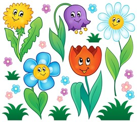 Cartoon flowers collection 4