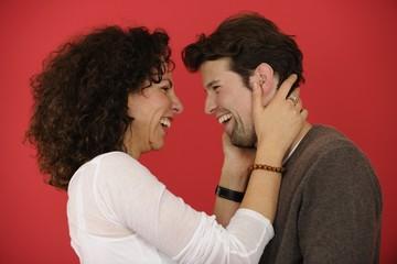 portrait of an happy couple