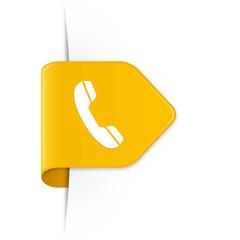 Phone - Gelber Sticker Pfeil mit Schatten