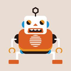 bizarre robot flat icon elements background,eps10