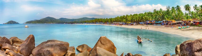 Goa beach panorama, Palolem, India
