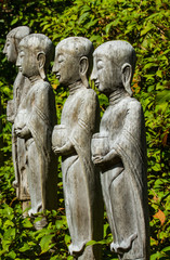 Wooden buddha images