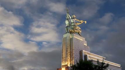 monument Rabochiy i Kolkhoznitsa , Moscow, Russia