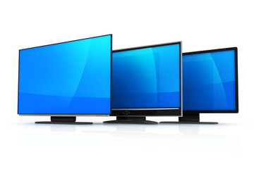 Three modern TV