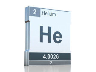 Helium symbol - element from the periodic table