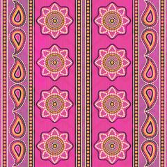 Ethnic fabric seamless pattern