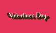 vector holiday typographical illustration of Valentines Day