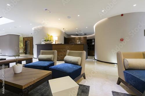 Hotel lobby cafe interior - 76892035