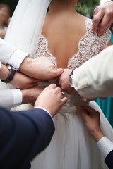 Beautiful bride. Wedding Day. Beautiful Happy woman
