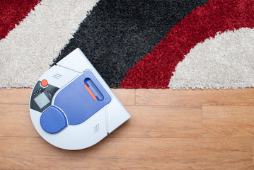Vacuum cleaning robot working