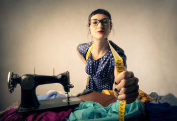 A tailor at work
