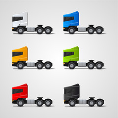 Colored trucks set