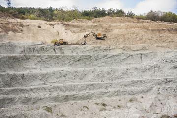 excavator in quarry