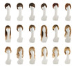 Hair wig over the mannequin head set - 76893647