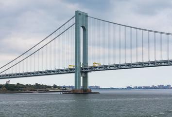 Suspension Bridge on Gloomy Day