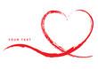 Grußkarte mit handgezeichnetem rotem Herz – Your Text - 76894079