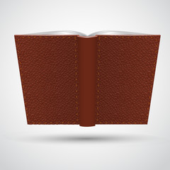 Open leather book