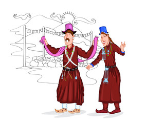 Ladakhi couple