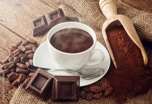 Cup of hot chocolate - 76894847