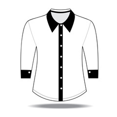 Blank shirt with long sleeves template for men
