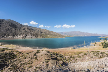 Potrerillos reservoir in Mendoza, Argentina