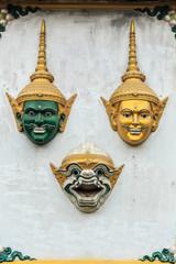 Hua Khon (Thai Traditional Mask) Used in Khon - Thai traditional