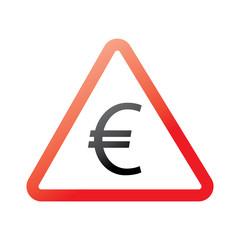 warning road sign euros