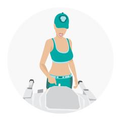 Sport woman - fitness