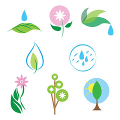Vector nature icon set