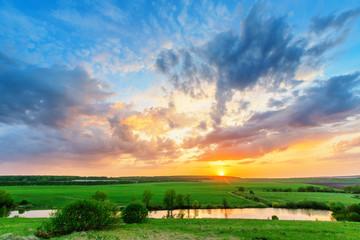 Sunset on the plain