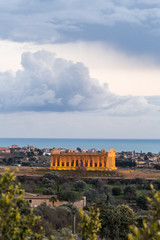 Temple of Concord. point of view with sea on the background