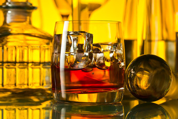 alcoholic drinks in bar