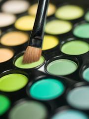 eyeshadow and makeup brush