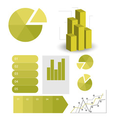 detailed elements of info-graphics