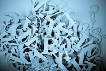 Heap of Latin Letters background
