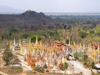 Inn Thein Pagoda at Indein Village, Inle Lake, Myanmar