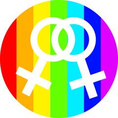 gay life vector women in circle