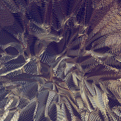 Abstract 3D golden net cloth background