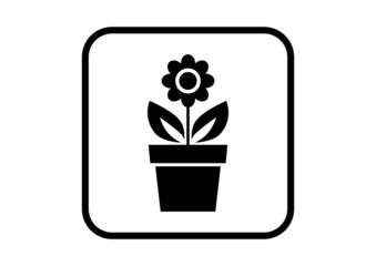 Flower vector icon on white background