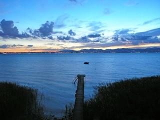 Gardasee, blaue Stunde