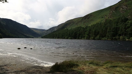 Upper Lake after rain in Glendalough