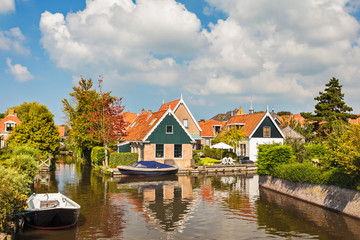 The small Dutch village of Hindeloopen