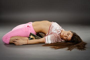 Street dancer girl doing moves