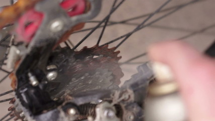 Lubricating Rusty Chain Sprocket on Bike