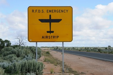 Royal Flying Doctor Service of Australia RFDS emergency airstrip